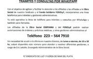 NUEVO SERVICIO EN LA SECRETARÍA DE OBRA SOCIAL: TRÁMITES Y CONSULTAS POR WHASTAPP