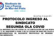 Protocolo de ingreso al Sindicato ante la segunda ola de COVID