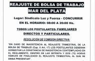 REAJUSTE BOLSA DE TRABAJO EN MAR DEL PLATA: 29 DE OCTUBRE DE 2021