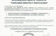 """INSCRIPCIÓN BOLSA DE TRABAJO """"DELEGACIÓN SANTA TERESITA"""""""